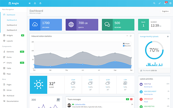 Multiversion Bootstrap admin template